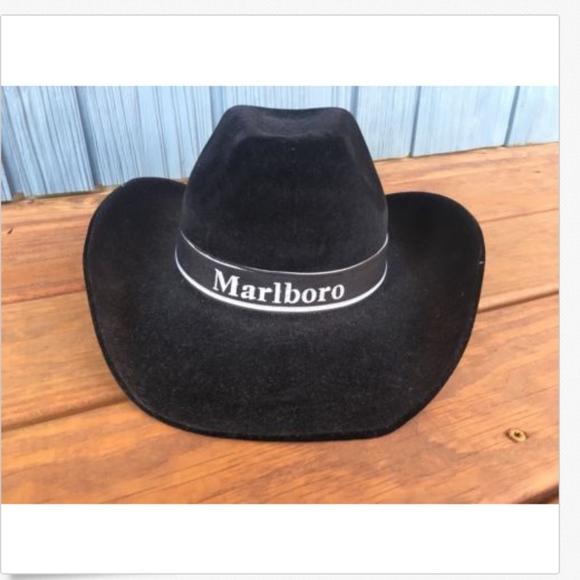 Vintage Black Velvet Marlboro Cowboy Hat. M 5bef36bf61974537eb4aeed7 24f8160df8f